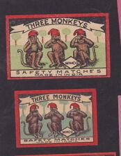 Ancienne  étiquette allumettes   Inde BN34715 Trois Singes