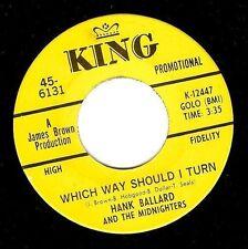 Hank Ballard which way should i turn Vinyle 7 in (environ 17.78 cm) US KING 45-6131 1967 PROMO