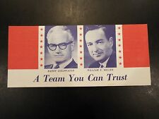 """""""A Team You Can Trust"""" Goldwater-Miller Campaign Brochure 1964"""