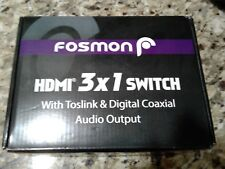 Fosmon HDMI 3x1 Switch with SPDIF & Toslink Out
