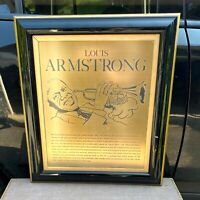 Louis Armstrong Heavy Metallic Fine Art Print Ron Crawford Collectible Rare