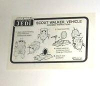 VINTAGE! Kenner 1982 STAR WARS ROTJ Scout Walker Instructions FREE SHIPPING!
