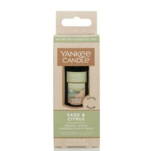Yankee Candle SAGE & CITRUS Diffuser Oil Blends INFUSED With ESSENTIAL OIL