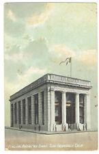 San Francisco California Italian American Bank posted 1910