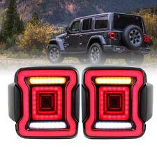 EURO For Jeep Wrangler JL 2018 2019 Right Left LED Tail Light Reverse Turn Light