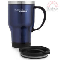 100% Genuine! THERMOS Double Wall 470ml S/S Insulated Travel Mug Dark Blue!