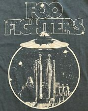 New! Foo Fighters Original Abduction Concert T-Shirt Dave Grohl Heather Navy Xl