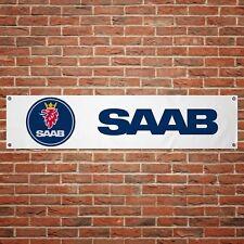 Saab Banner Garage Workshop PVC Sign Trackside Vintage Car Display 900 92 99