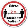 Abstand halten 2m Aufkleber Sticker Schild Hinweis Verbotsschild