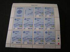 MALTA, SCOTT # 718(10), S/S 1988 10c. VALUE EUROPA (10 STAMPS) ISSUE MNH
