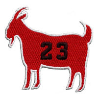 Chicago GOAT #23 Basketball Parody Embroidered Iron On Patch