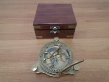 Brass Compass with Wooden Case