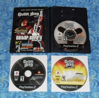 Guitar Hero Lot of 3 Video Games for the Sony PlayStation 2 Excellent Tested