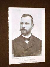 Avvocato Secondo Frola Ministro delle Poste e telegrafi nel 1898