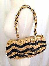 Pele Handmade Purse Handbag Coconut Shell Beads Wood Mother of Pearl Dragonfly
