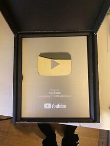 Real YouTube Silver Play button - YouTube Creator Award