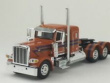 "1/64 DCP ORANGE/PURPLE PETERBILT 389 W/ 36"" SLEEPER"