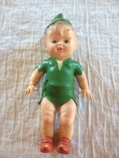 vintage 1950 peter pan squeak toy Rubber Vinyl Walt Disney Doll Boy Vtg