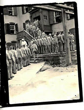 VINTAGE PHOTO OF WWI CADETS GETTING UNIFORMS