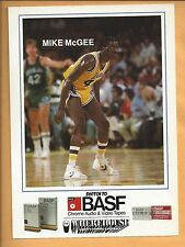 1983-84 BASF Lakers Promo Basketball card MIKE MC GEE