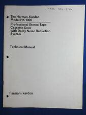 Harman Kardon Vintage Electronics Manuals   eBay on