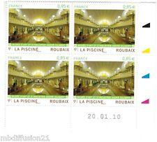 2010-BLOC DE 4 COIN DATE**LA PISCINE DE ROUBAIX- MUSEE D'ART -TIMBRE Yt. N°4453