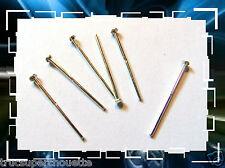 LOT DE 6 TIGES TÊTE PLATE * 17 mm. Fil: 0.70  EN ARGENT MASSIF 925 *.Réf: SL-854