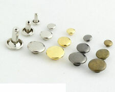 Brass Double Cap Rivets Studs + 1pc Tool - DIY/Repair Sewing Leather craft Jeans
