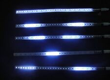 2*White 30cm Flexible Knight Night Rider LED Strip Light Flash Strobe Light CD