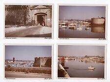 Lot 4 PHOTOS ANCIENNES COULEUR CONCARNEAU 1966 Port Bretagne Finistère