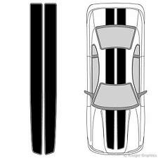 Universal 3M Vinyl EZ Rally Racing Stripes with Outline for Any Car or Truck