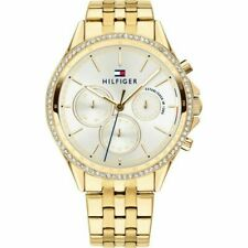 Brand New Tommy Hilfiger Ladies Watch 1781977 Gold Chronograph - UK SELLER