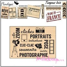 "*TAMPON BOIS FLORILEGES DESIGN ""CLIC CLAC"" SCRAPBOOKING CARTERIE DECORATION*"