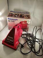 Vintage Panasonic Hand Held Vacuum MC-1040 Red Great Shape