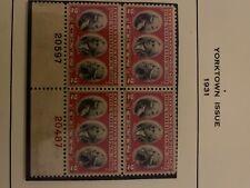 #703 Center Line Block 1931 2c Yorktown Issue Mint-Og/Nh