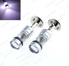 2Pc High Power H1 100W 800LM 7500K Cool White Projector LED Fog Light DRL Bulbs