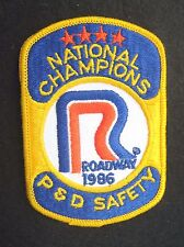 ROADWAY SEW ON PATCH NATIONAL CHAMPIONS P D SAFETY TRUCK 1986 ~ 3