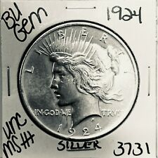 1924 P BU GEM PEACE SILVER DOLLAR UNC MS+ GENUINE U.S. MINT RARE COIN 3731