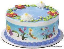 Fairies Tinkerbell EDIBLE CAKE TOPPER Party Supplies STRIP Decoration Disney NEW