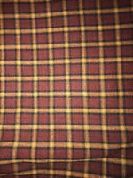 "Rust Color Plaid Fabric  45"" w x 2 yds long"