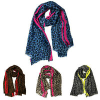 Ladies Womens Leopard Print Scarf Animal Wrap Party Scarves 2018