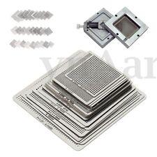 27Pcs BGA Reball Reballing Rework Net Universal Stencils Directly Heat Set Kit