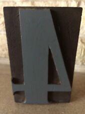 Vintage Letterpress Wood Print Block Number 4