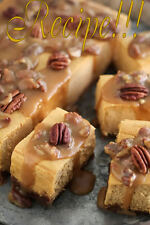 "☆Light, Mild & Creamy☆Sweet Potato Pecan Praline Cheesecake Bars ""RECIPE""!☆"