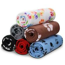 Warm Paw Print Blanket/Bed Cover for Dogs 6 Pack of 24x28 Inches Multi-colored