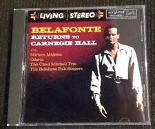 Harry Belafonte CD Returns To Carnegie Hall BMG 1994