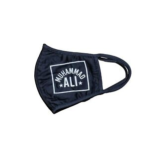 MUHAMMED ALI  BLACK CLOTH COVER REUSEABLE DURABLE FACE MASK FROM LIDS.COM NWT