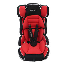 Parker Red & Black Child Baby Car Seat Ages 4-12 Safety Booster Seat Group 1/2/3