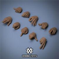 "WOOM TOYS P001 1:6 5pcs Fingers Hands Shape For 12"" Male HT PH TBL Body Presale"