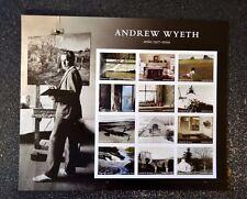 2017USA #5212 Forever - Andrew Wyeth - Sheet of 12  Mint  artist